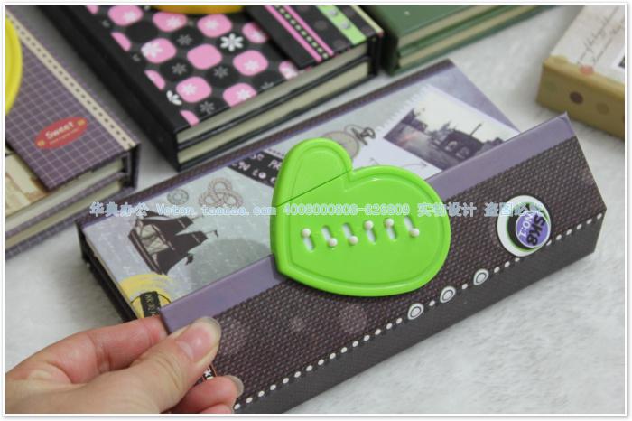 【勤得利儿童文具】可爱卡通密码笔记本/带锁日记本