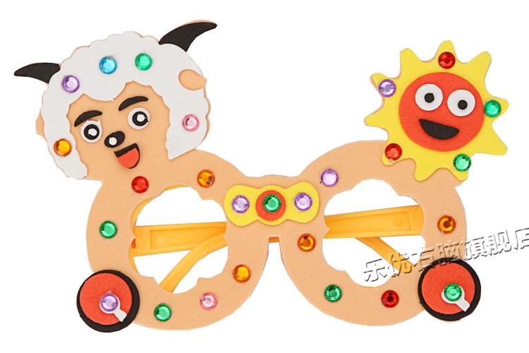 儿童海绵纸手工贴画树展示