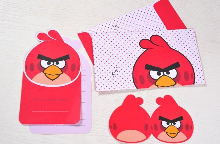 广博愤怒的小鸟可爱卡通信纸套装信纸信封袋