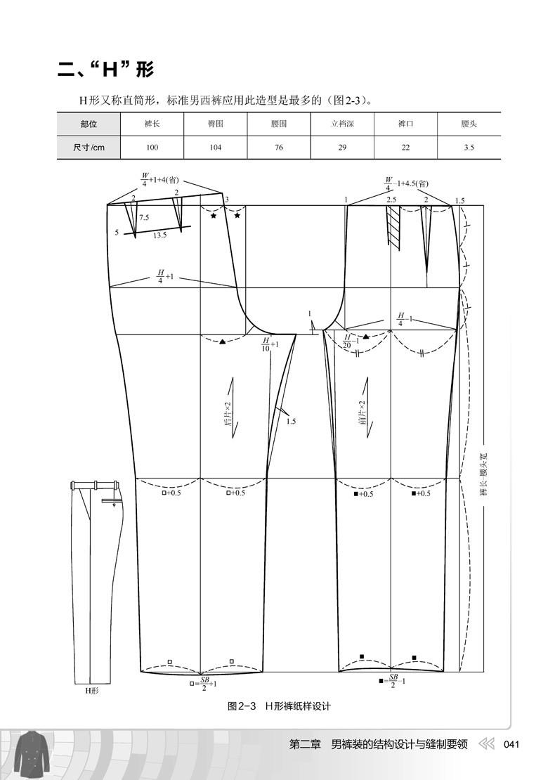 2本 男装 女装结构与缝制要领 服装结构设计参考书 男装款式设计用书