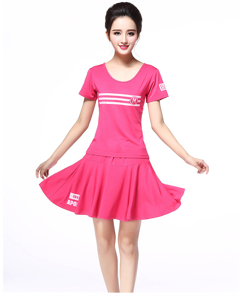 尤萨休闲服装 2016新款舞蹈服运动套装广场舞演出练功服短袖半身裙图片