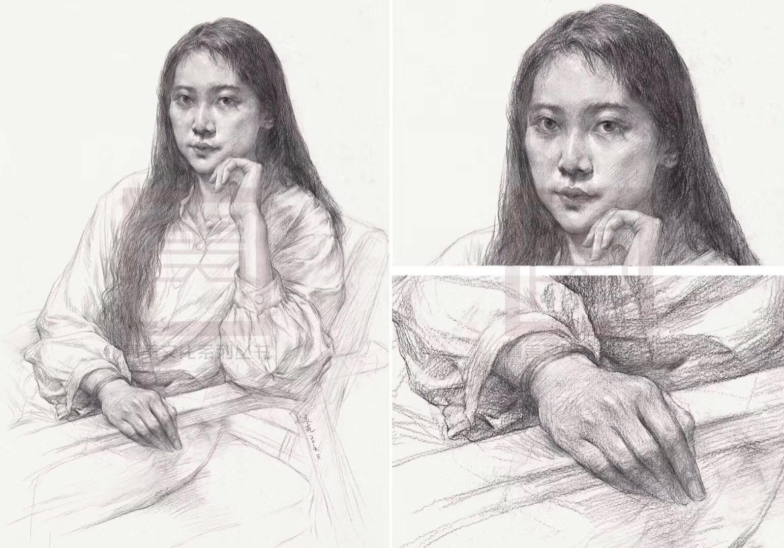 2018新书 青美文化 半身像的故事1:1高清临本 人物素描半身像临摹范本