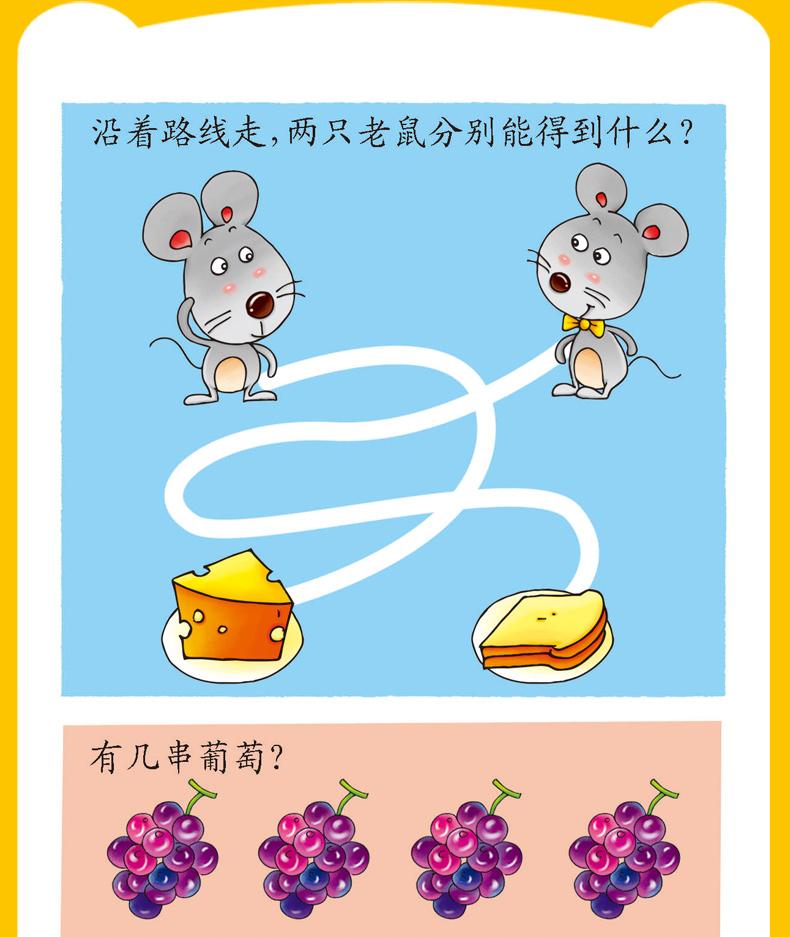 幼儿智力开发200问1-2-3-4-5-6岁全5册儿童书籍识字卡片大字有图