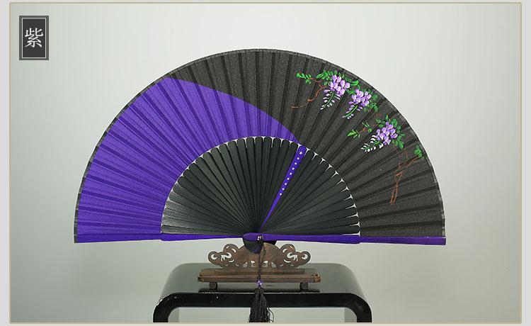 原创6寸手绘女扇古风扇子折扇古典汉服扇夹色五星中国风女式 可礼品卡