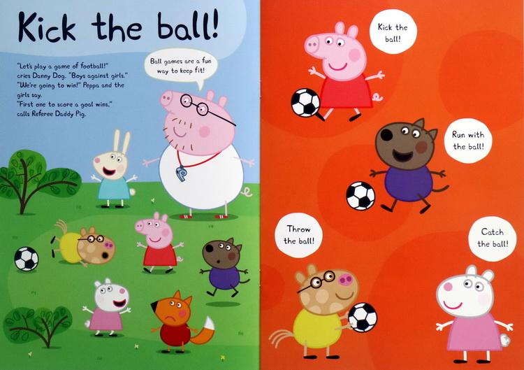 英文原版 小猪佩佩奇趣味贴纸书 绘本 peppa pig happy holiday 粉红