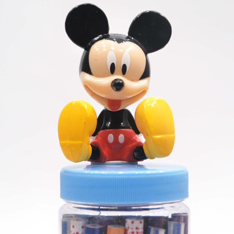 联众迪士尼可爱米奇米妮30支桶装木头铅笔米奇头dm0192_蓝色