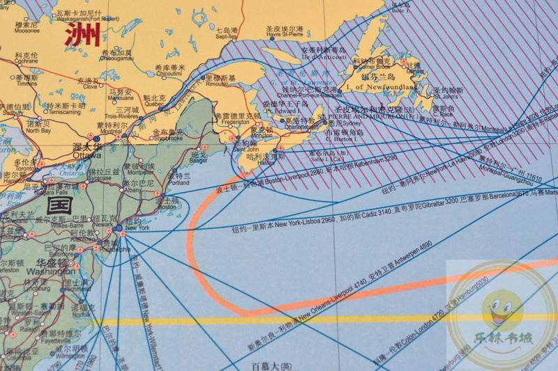 中图正版2018新世界海运交通图世界交通地图挂图2.3米*1.1米航