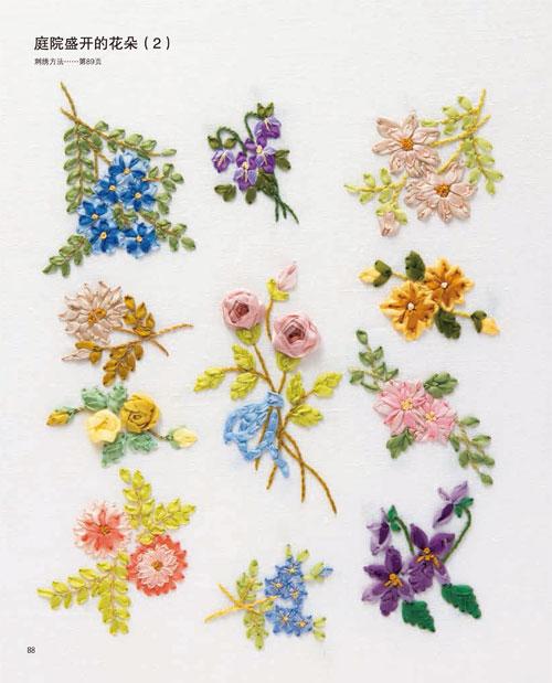 2,500种刺绣图案合集,包括花朵,鸟虫,动物,生活小物品,数字,英文,国旗