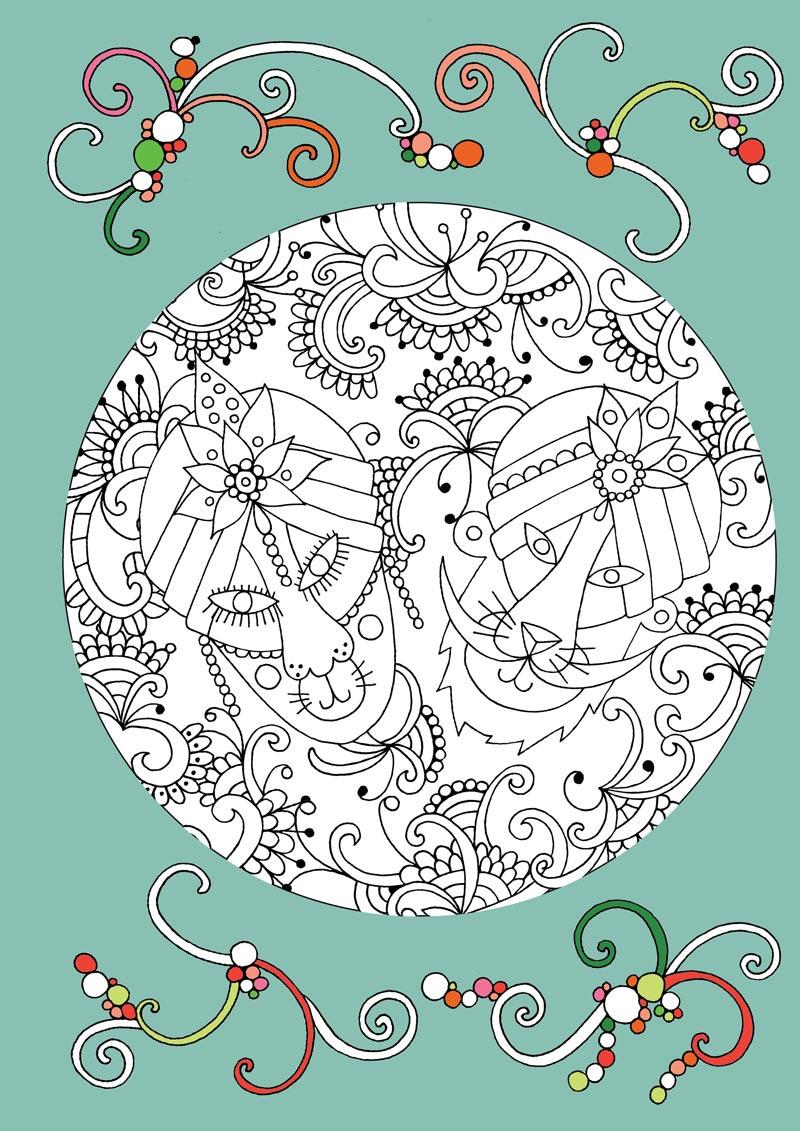 儿童创意手绘涂色书:1001夜